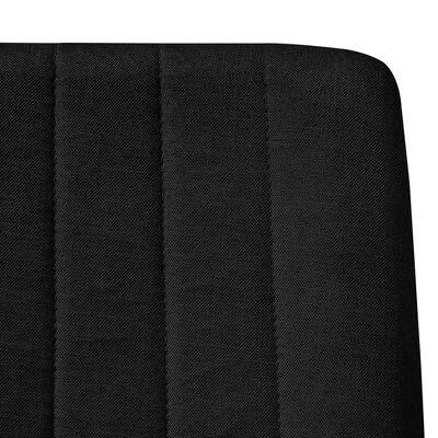 vidaXL Sillas de comedor 4 unidades tela negro