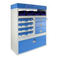 Estantería para Furgonetas Universal Profesional Capacidad 60kg Azul