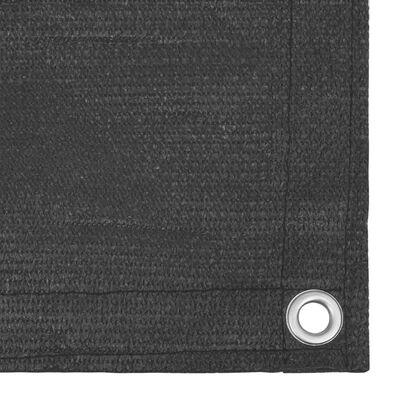 vidaXL Toldo para balcón HDPE gris antracita 90x300 cm