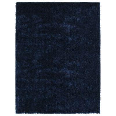 vidaXL Alfombra peluda azul 80x150 cm
