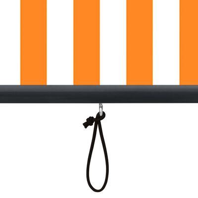 vidaXL Estor enrollable de exterior blanco y naranja 80x250 cm