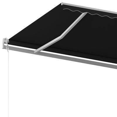 vidaXL Toldo automático retráctil con postes gris antracita 6x3,5 m