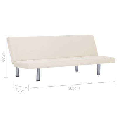 vidaXL Sofá cama de poliéster color crema