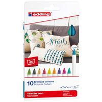 edding Rotulador para textil 10 unidades multicolor 4600