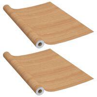 vidaXL Láminas autoadhesivas para muebles PVC roble japonés 500x90 cm