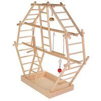 TRIXIE Patio de juegos para pájaros 44x44x16 cm madera 5659