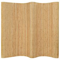 vidaXL Biombo divisor de bambú natural 250x165 cm