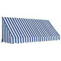 vidaXL Toldo para bar 250x120 cm azul y blanco