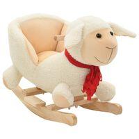 vidaXL Balancín de oveja de peluche 60x32x50 cm blanco
