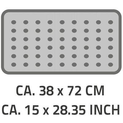 RIDDER Alfombrilla de baño antideslizante Plattfuß 72x38 cm gris 67087