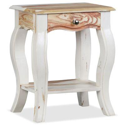 vidaXL Mesita de noche de madera maciza de sheesham 40x30x50 cm
