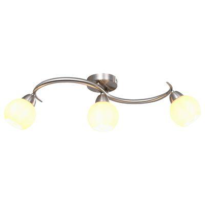 vidaXL Lámpara de techo pantallas cerámica bol blanco 3 bombillas E14