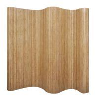 vidaXL Biombo divisor bambú natural 250x165 cm
