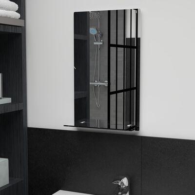 vidaXL Espejo de pared con estante de vidrio templado 30x50 cm