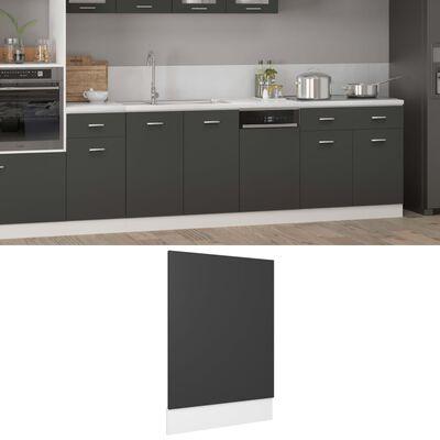 vidaXL Panel para lavavajillas de aglomerado gris 45x3x67 cm