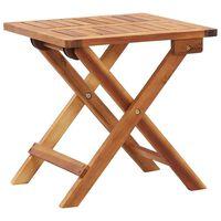 vidaXL Mesa de centro plegable de jardín madera de acacia 40x40x40 cm