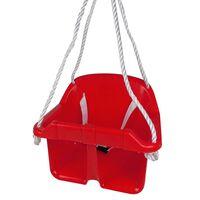 Happy People Columpio para bebé con cinturón seguridad plástico rojo