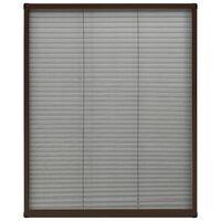 vidaXL Mosquitera plisada para ventanas aluminio marrón 80x100 cm