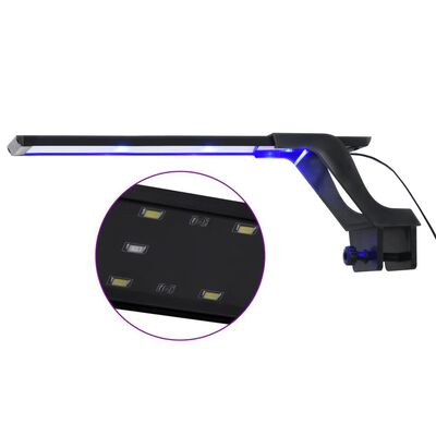 vidaXL Luz LED para acuario con abrazadera azul y blanco 35-55 cm