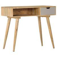 vidaXL Mesa consola de madera maciza de mango 89x44x76 cm