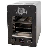 BBGRILL Horno portátil Genius acero inoxidable negro 19x18,5x30cm