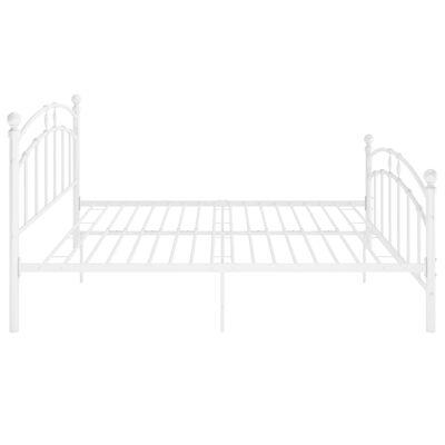 vidaXL Estructura de cama de metal blanco 140x200 cm
