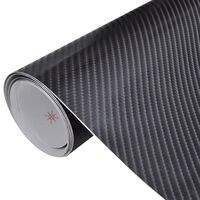 Película De Coche Vinilo De Fibra De Carbon 4D Negro 152 x 200cm