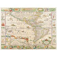 Impresión sobre lienzo - Mapa Antiguo No. 29