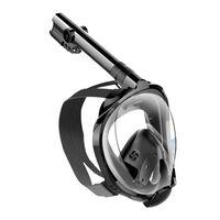 Máscara de snorkel con soporte para cámara - negro - L / XL