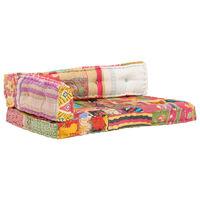 vidaXL Cojín para sofá de palés tela multicolor patchwork