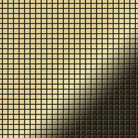 ALLOY Glomesh-BM Mosaico de metal sólido Latón oro