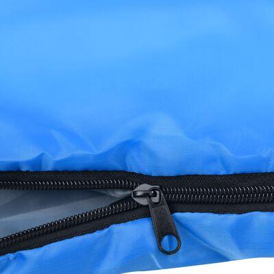 vidaXL Saco de dormir ligero azul 15℃ 850g