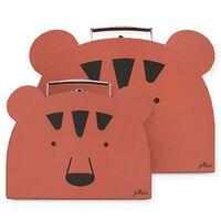 Jollein Maletas de juguete 2 piezas Animal Club rojo óxido