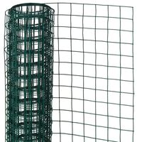 Nature Alambrada cuadrada 1x5 m 13 mm acero recubierto plástico verde