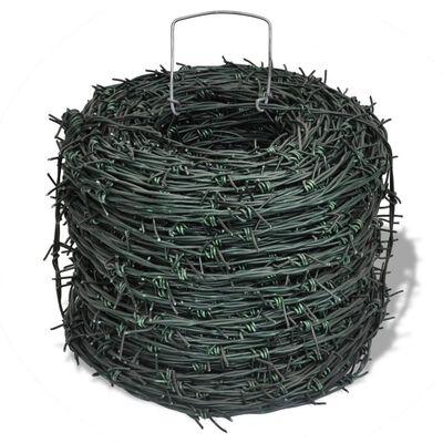 vidaXL Alambrada de púas rollo alambre 100 m