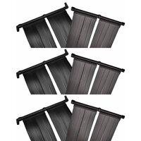 vidaXL Panel de calentador solar de piscina 6 uds 80x620 cm