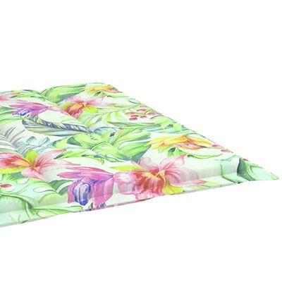 vidaXL Cojín para tumbona tela estampado de hojas 200x60x4 cm