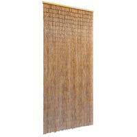 vidaXL Cortina para puerta 90x200 cm bambú