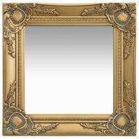 vidaXL Espejo de pared estilo barroco dorado 40x40 cm