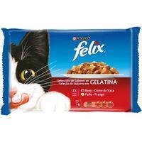 Felix Multipack Surtido De Carnes En Gelatina De Buey Y Pollo | 4x100