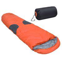 vidaXL Saco de dormir naranja -5℃ 2000g