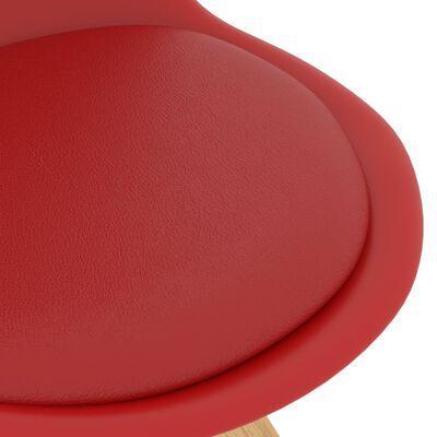 vidaXL Juego de comedor 3 piezas rojo