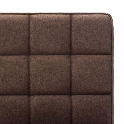 vidaXL Silla de comedor de tela marrón