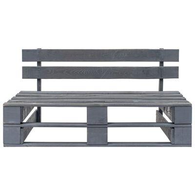 vidaXL Banco de palés para jardín de madera gris