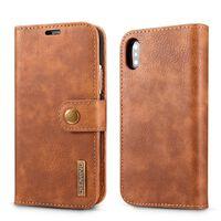 Funda para iPhone XR con tarjetero de cuero PU - marrón