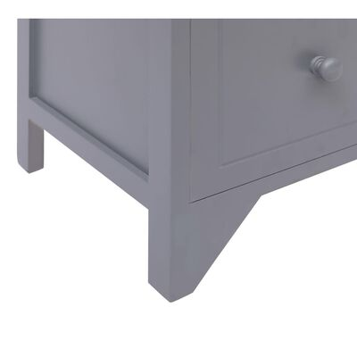 vidaXL Armario auxiliar 6 cajones madera de Paulownia gris 60x30x75 cm