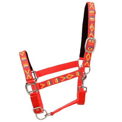 vidaXL Cabezadas de caballo nylon tamaño percherón rojo 2 unidades