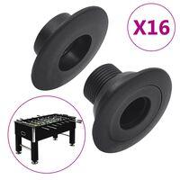 vidaXL Topes para la mesa de futbolín barra 15,9/16 mm 16 piezas