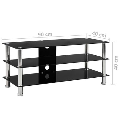 vidaXL Mueble para el televisor de vidrio templado 90x40x40 cm