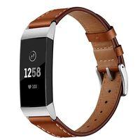 Pulsera Fitbit Charge 3/4 en cuero genuino - marrón
